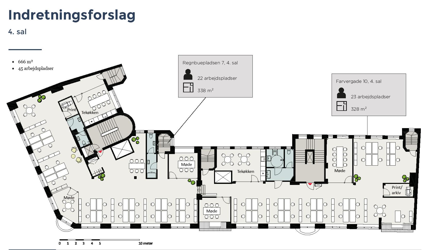 Plantegning - 4.sal - Farvergade 10 / Regnbuepladsen 7, 1463 København K