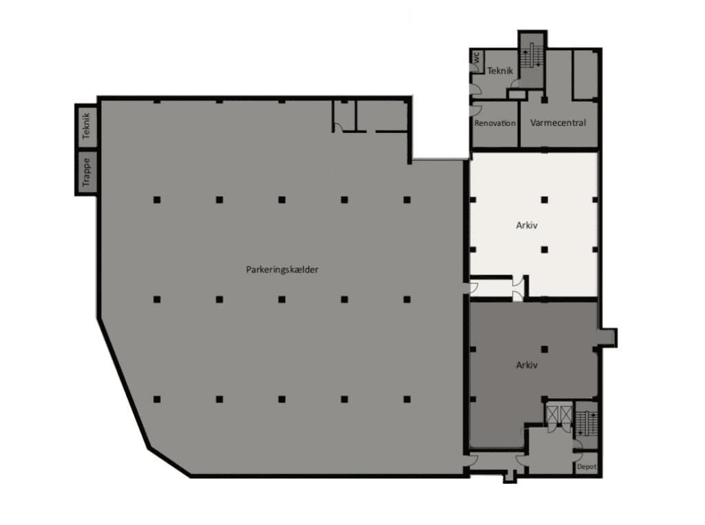 Plantegning - Jægersborg Alle 4, Lager Kælder 2920 Charlottenlund