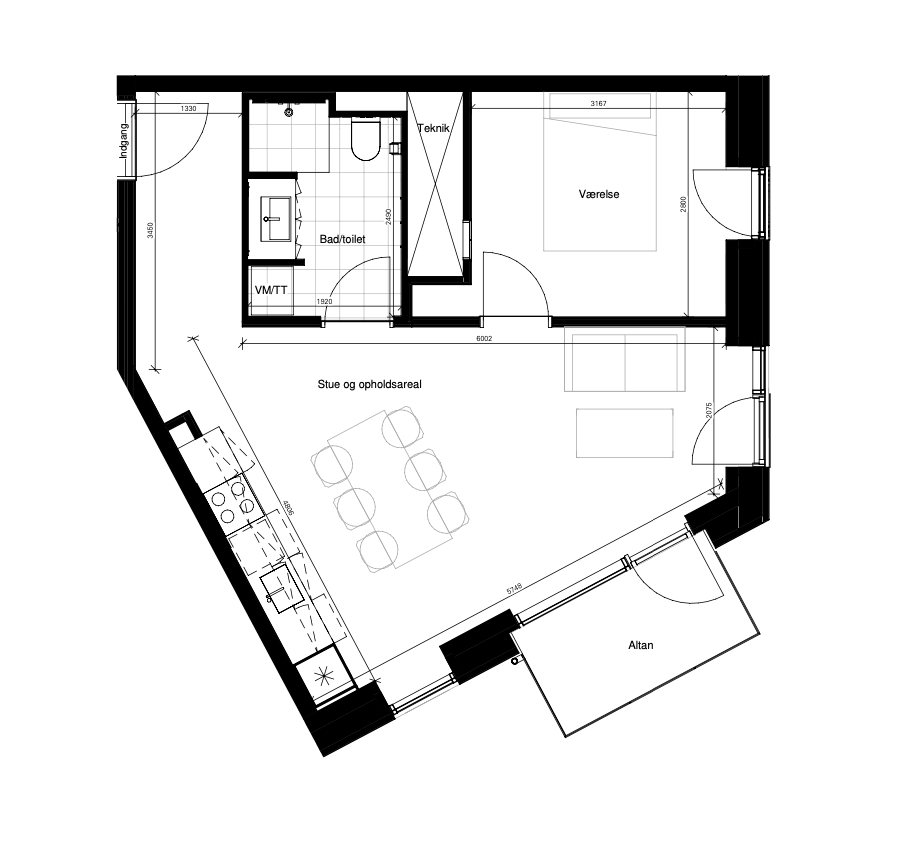 Plantegning - Borggade 6K, 2, 7, 8000 Aarhus C